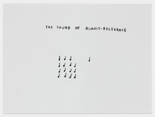 The Sound of Almost-Relevance